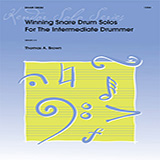 Download or print Tom Brown Winning Snare Drum Solos For The Intermediate Drummer Sheet Music Printable PDF 31-page score for Concert / arranged Percussion Solo SKU: 125084.