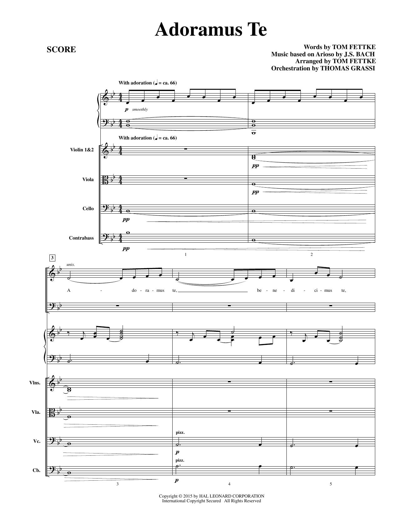Tom Fettke Adoramus Te - Conductor Score (Full Score) sheet music notes and chords. Download Printable PDF.