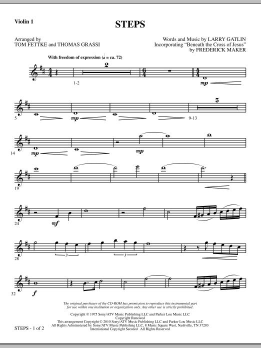 Tom Fettke Steps - Violin 1 sheet music notes and chords. Download Printable PDF.