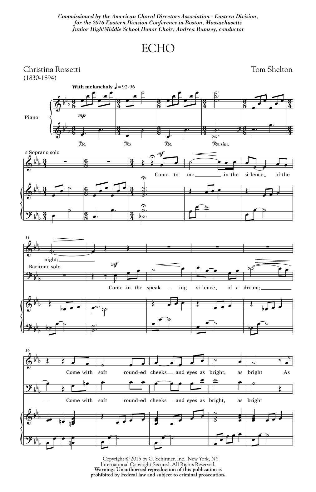 Tom Shelton Jr. Echo sheet music notes and chords. Download Printable PDF.