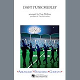 Download Tom Wallace 'Daft Punk Medley - Trombone 1' Printable PDF 1-page score for Pop / arranged Marching Band SKU: 327696.