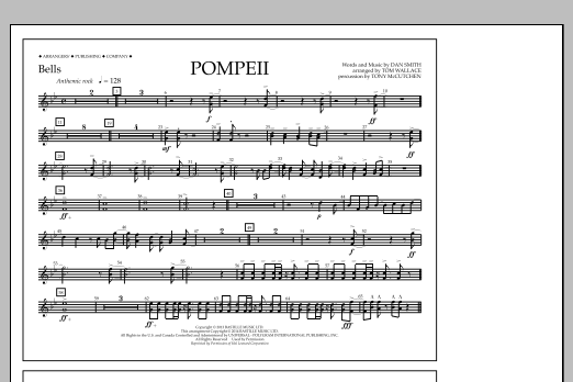 Tom Wallace Pompeii - Bells sheet music notes and chords