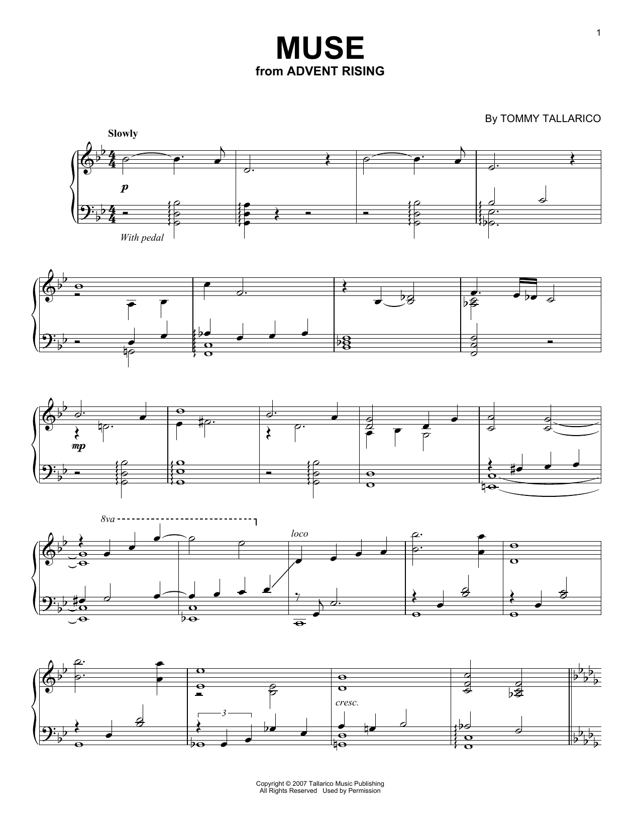 Tommy Tallarico Muse sheet music notes and chords