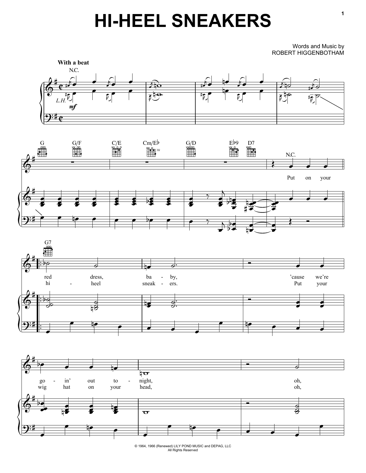 Tommy Tucker Hi-Heel Sneakers sheet music notes and chords