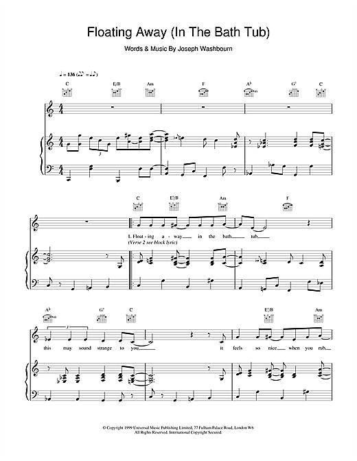 Toploader Floating Away sheet music notes and chords. Download Printable PDF.