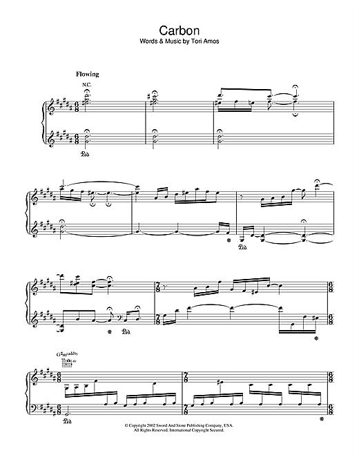 Tori Amos Carbon sheet music notes and chords. Download Printable PDF.