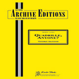 Download or print Toshiko Akiyoshi Quadrille, Anyone? - Piano Sheet Music Printable PDF 3-page score for Gospel / arranged Jazz Ensemble SKU: 381169.