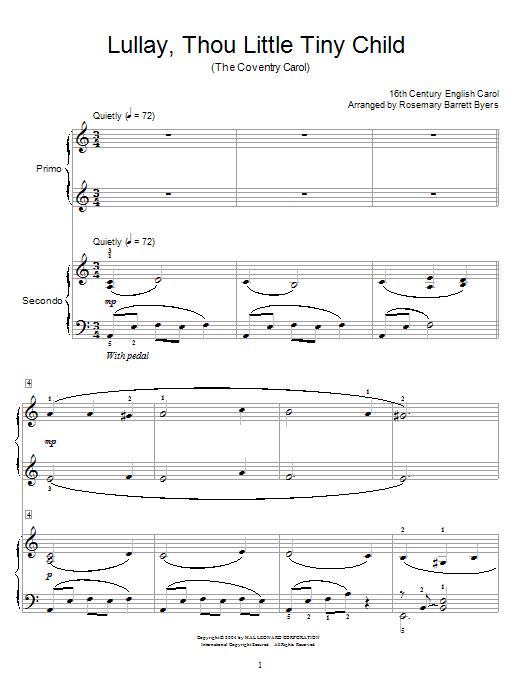 Christmas Carol Coventry Carol sheet music notes and chords. Download Printable PDF.