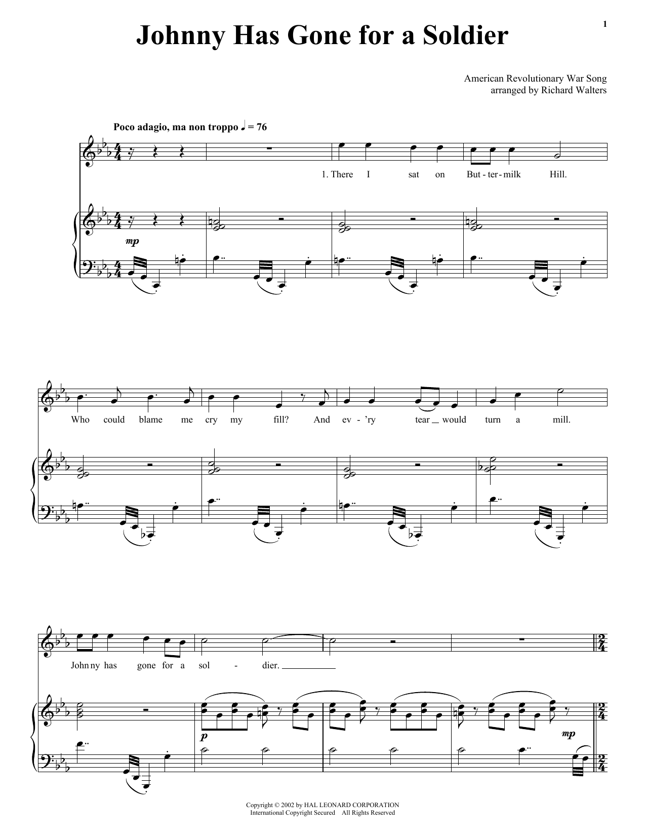 Traditional Johnny Has Gone For A Soldier sheet music notes and chords. Download Printable PDF.