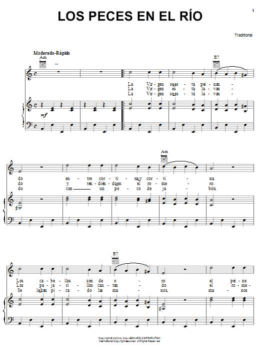 Traditional Los Peces En El Rio sheet music notes and chords