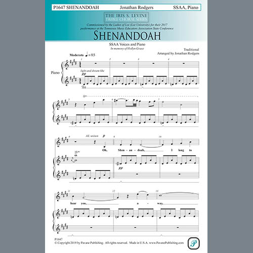 Easily Download Traditional Printable PDF piano music notes, guitar tabs for SSA Choir. Transpose or transcribe this score in no time - Learn how to play song progression.