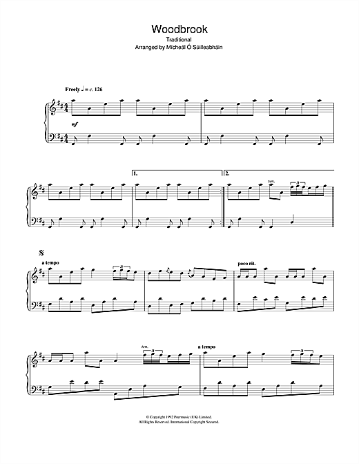 Traditional Woodbrook sheet music notes and chords. Download Printable PDF.