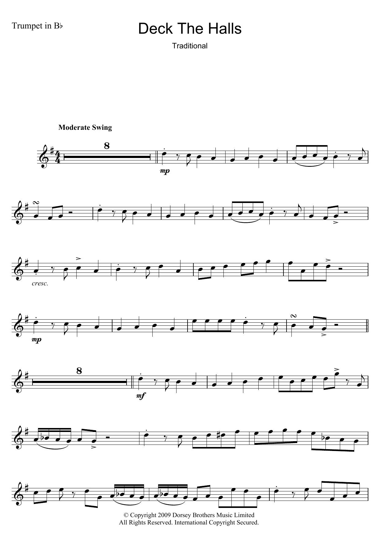 Christmas Carol Deck The Halls sheet music notes and chords. Download Printable PDF.