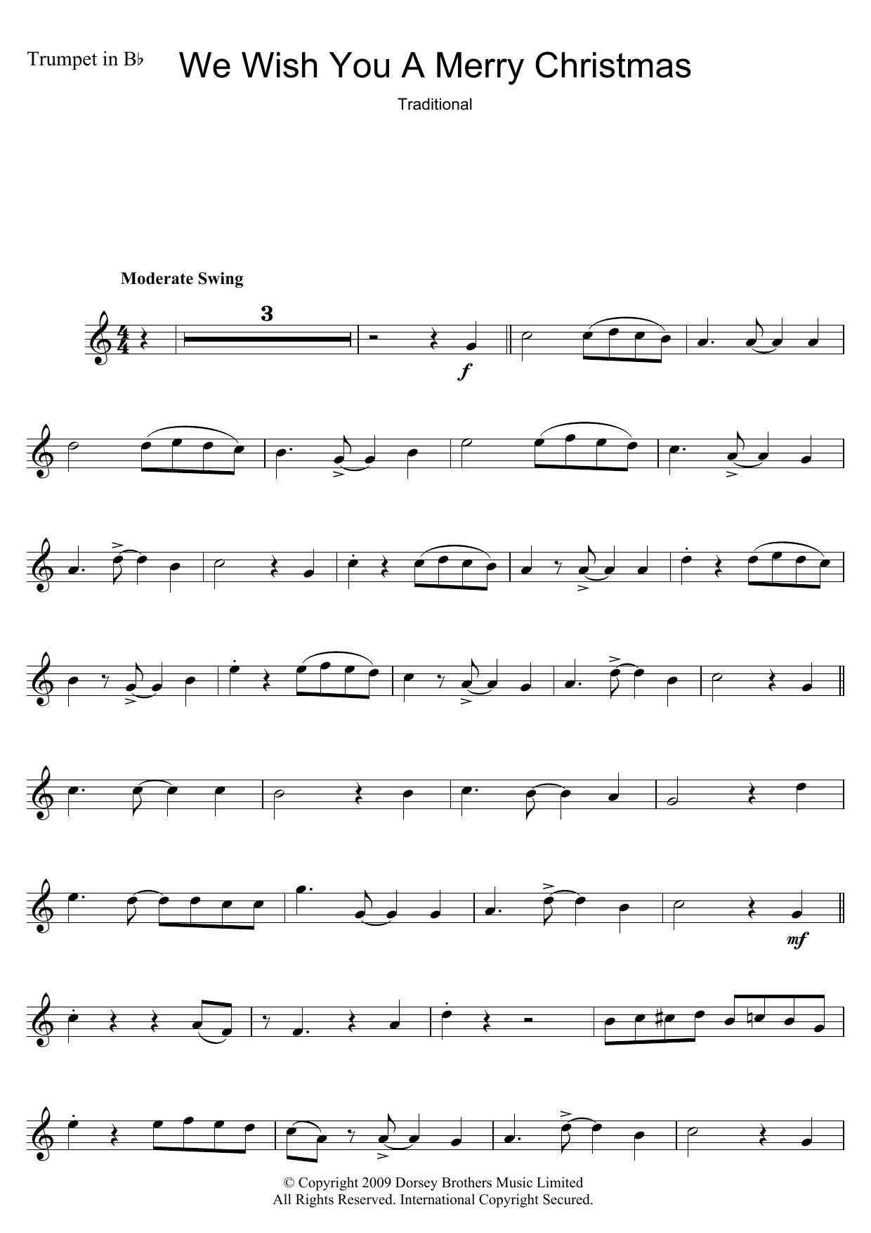 Christmas Carol We Wish You A Merry Christmas sheet music notes and chords. Download Printable PDF.