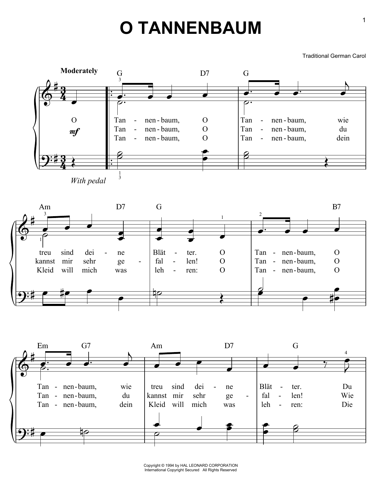 Traditional Carol O Christmas Tree sheet music notes and chords. Download Printable PDF.