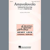 Download or print Traditional Zulu Dowry Song Amavolovolo (arr. Rudolf de Beer) Sheet Music Printable PDF 6-page score for A Cappella / arranged SSAA Choir SKU: 478563.