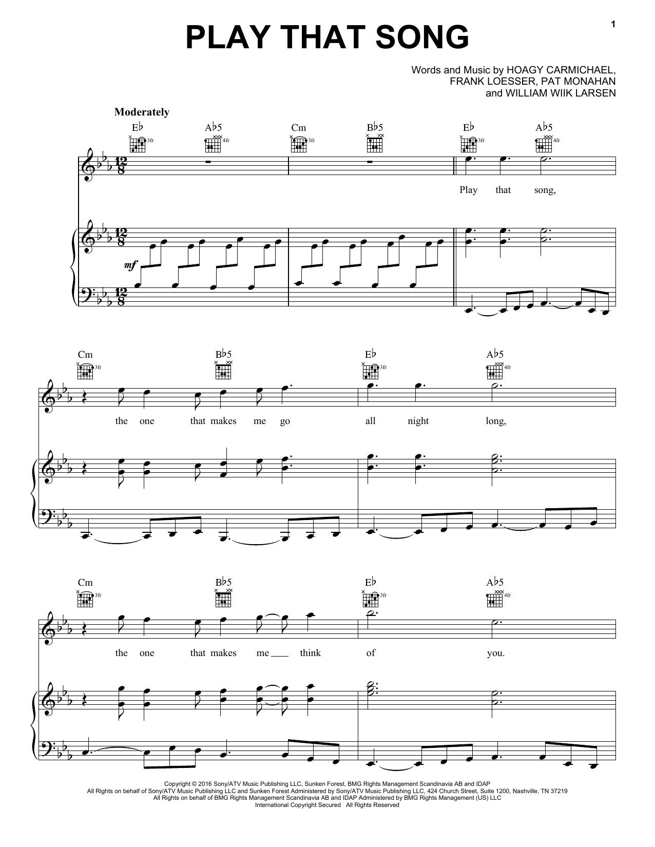 Train 'Play That Song' Sheet Music Notes, Chords | Download Printable Easy  Piano - SKU: 185729