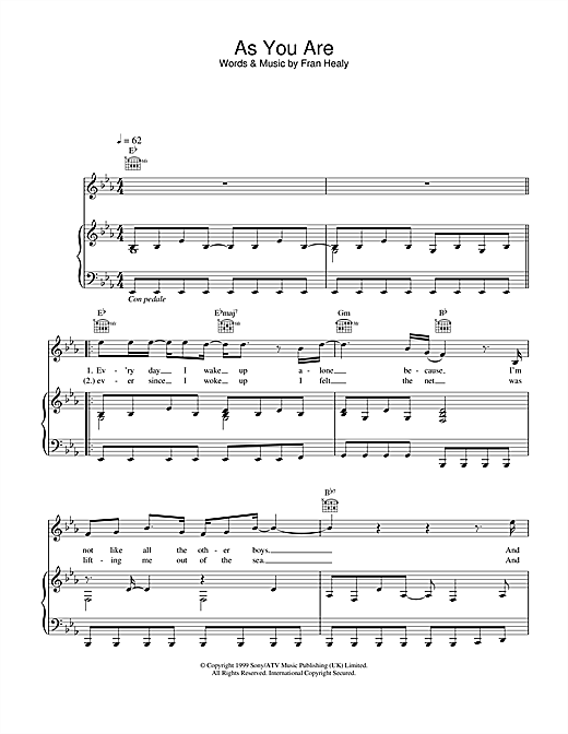 Travis As You Are sheet music notes and chords. Download Printable PDF.