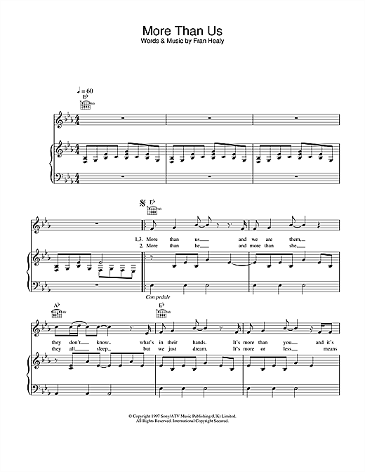 Travis More Than Us sheet music notes and chords. Download Printable PDF.