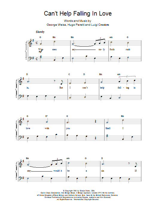 UB40 Can't Help Falling sheet music notes and chords. Download Printable PDF.
