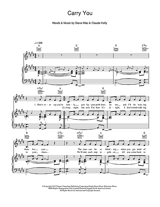 Union J Carry You sheet music notes and chords. Download Printable PDF.