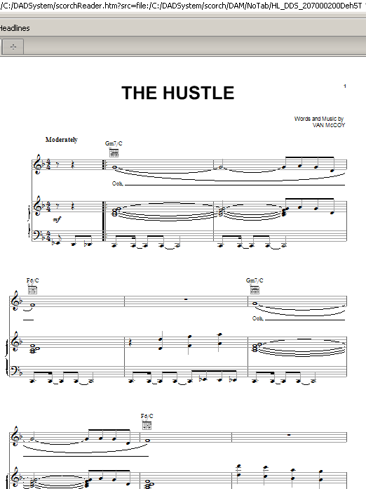 Van McCoy & The Soul City Symphony The Hustle sheet music notes and chords. Download Printable PDF.