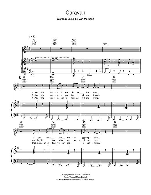 Van Morrison Caravan Chords