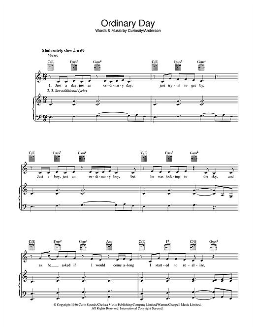 Vanessa Carlton Ordinary Day sheet music notes and chords. Download Printable PDF.