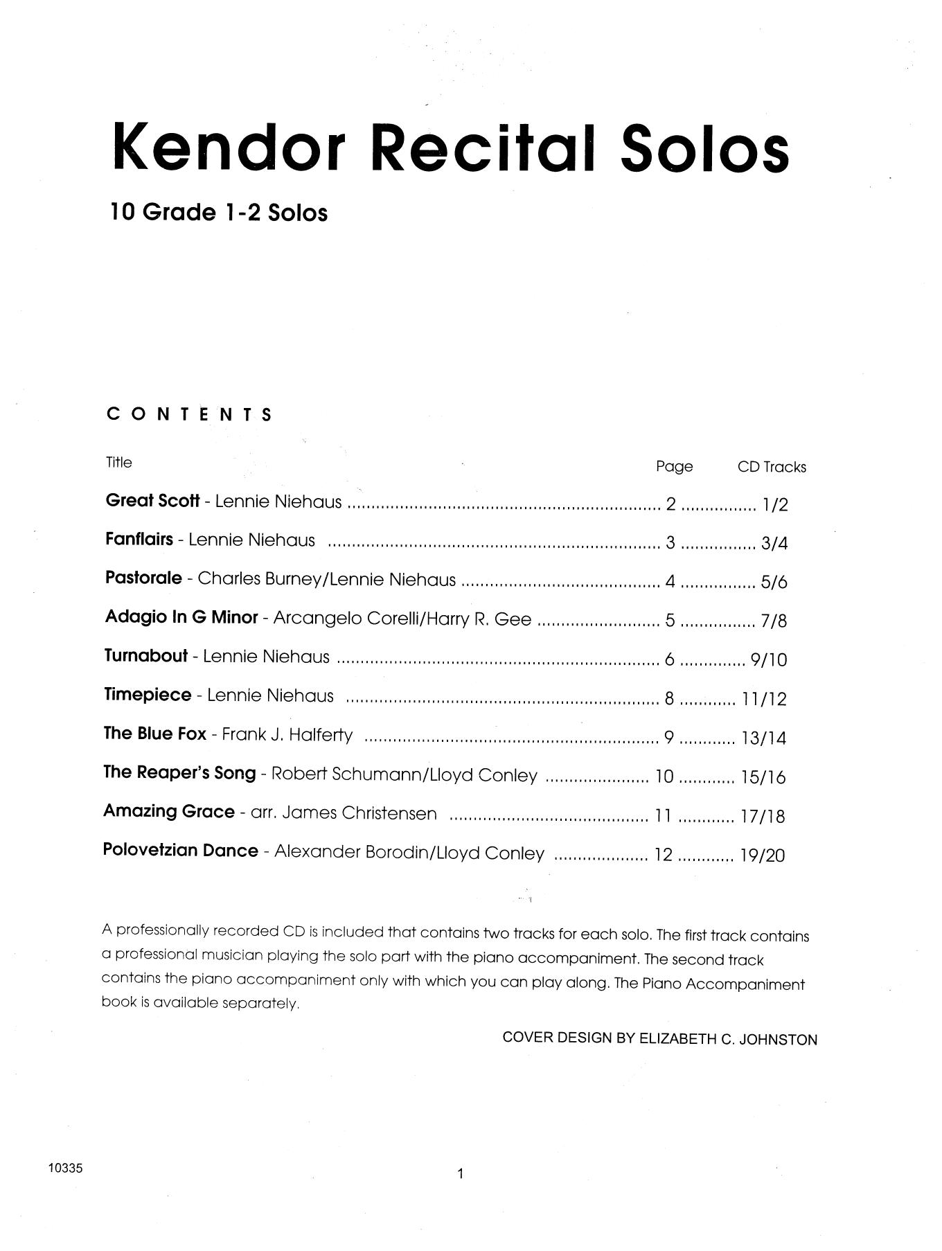 Various Kendor Recital Solos - Eb Alto Saxophone - Solo Book sheet music notes and chords. Download Printable PDF.