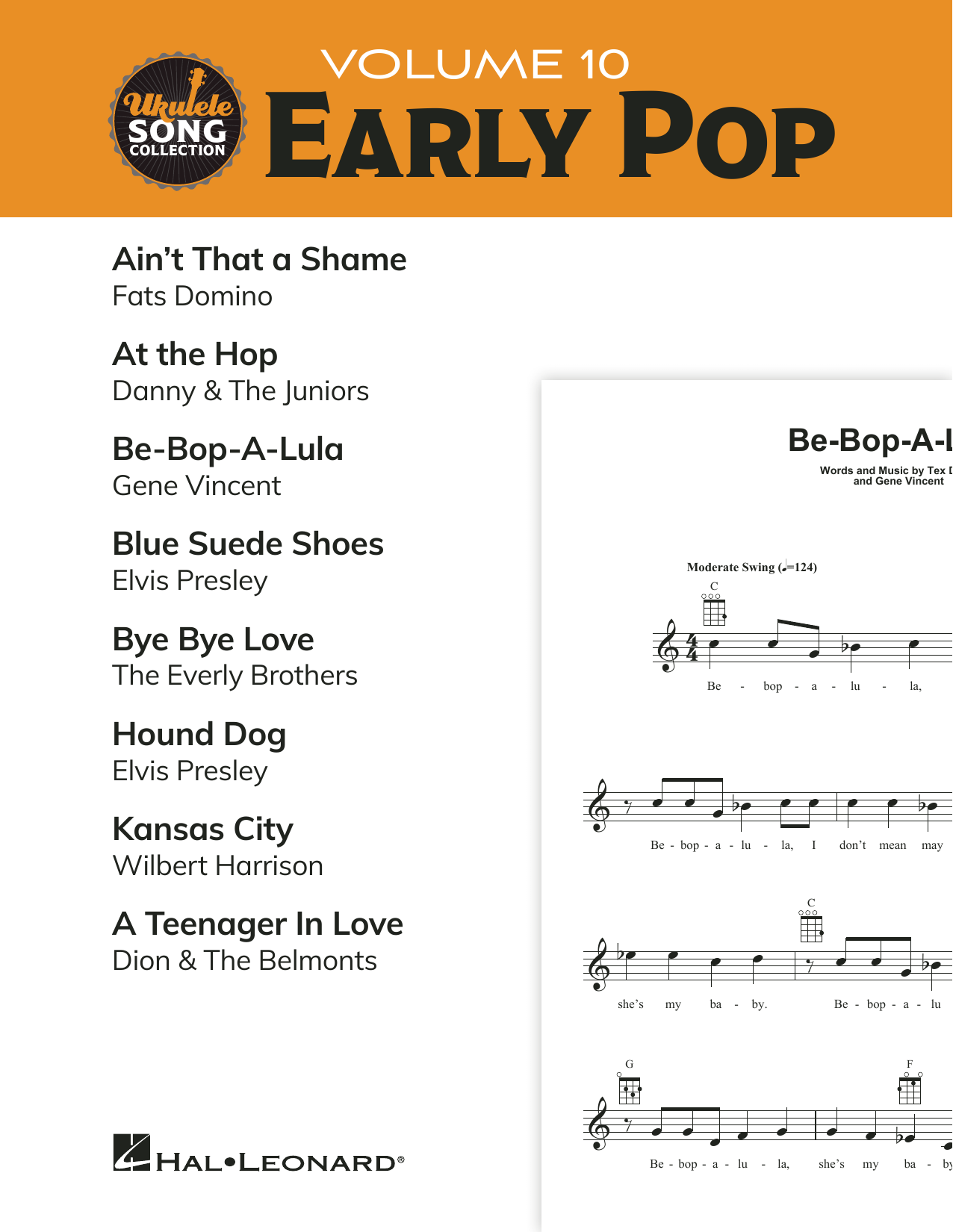 Various Ukulele Song Collection, Volume 10: Early Pop sheet music notes and chords