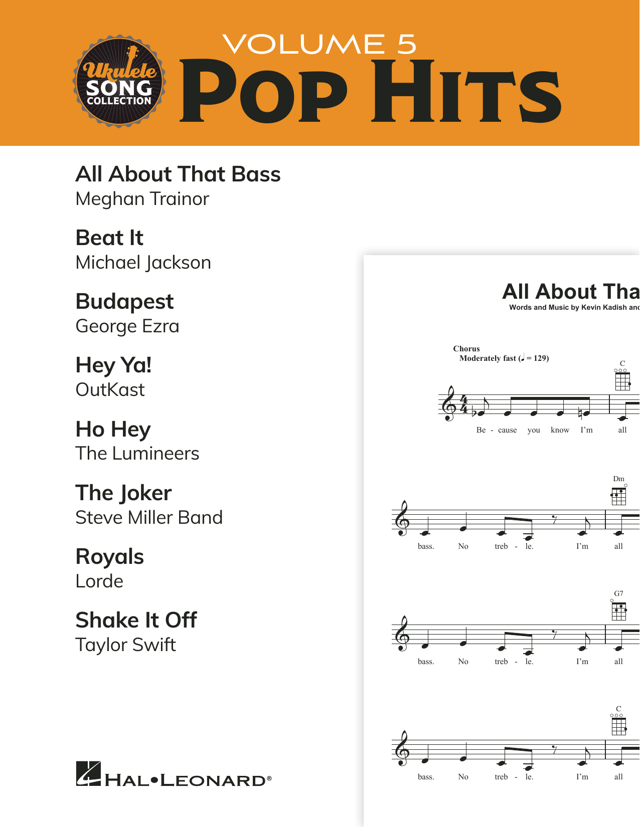 Various Ukulele Song Collection, Volume 5: Pop Hits sheet music notes and chords