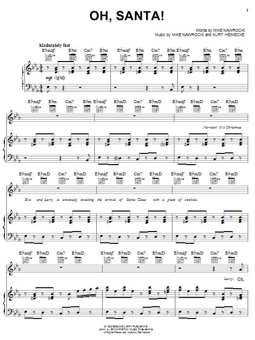 VeggieTales Oh, Santa! sheet music notes and chords