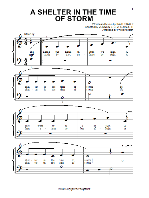 Vernon J. Charlesworth A Shelter In The Time Of Storm sheet music notes and chords. Download Printable PDF.