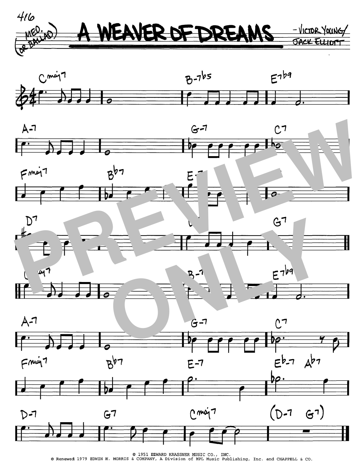 Victor Young A Weaver Of Dreams sheet music notes and chords. Download Printable PDF.