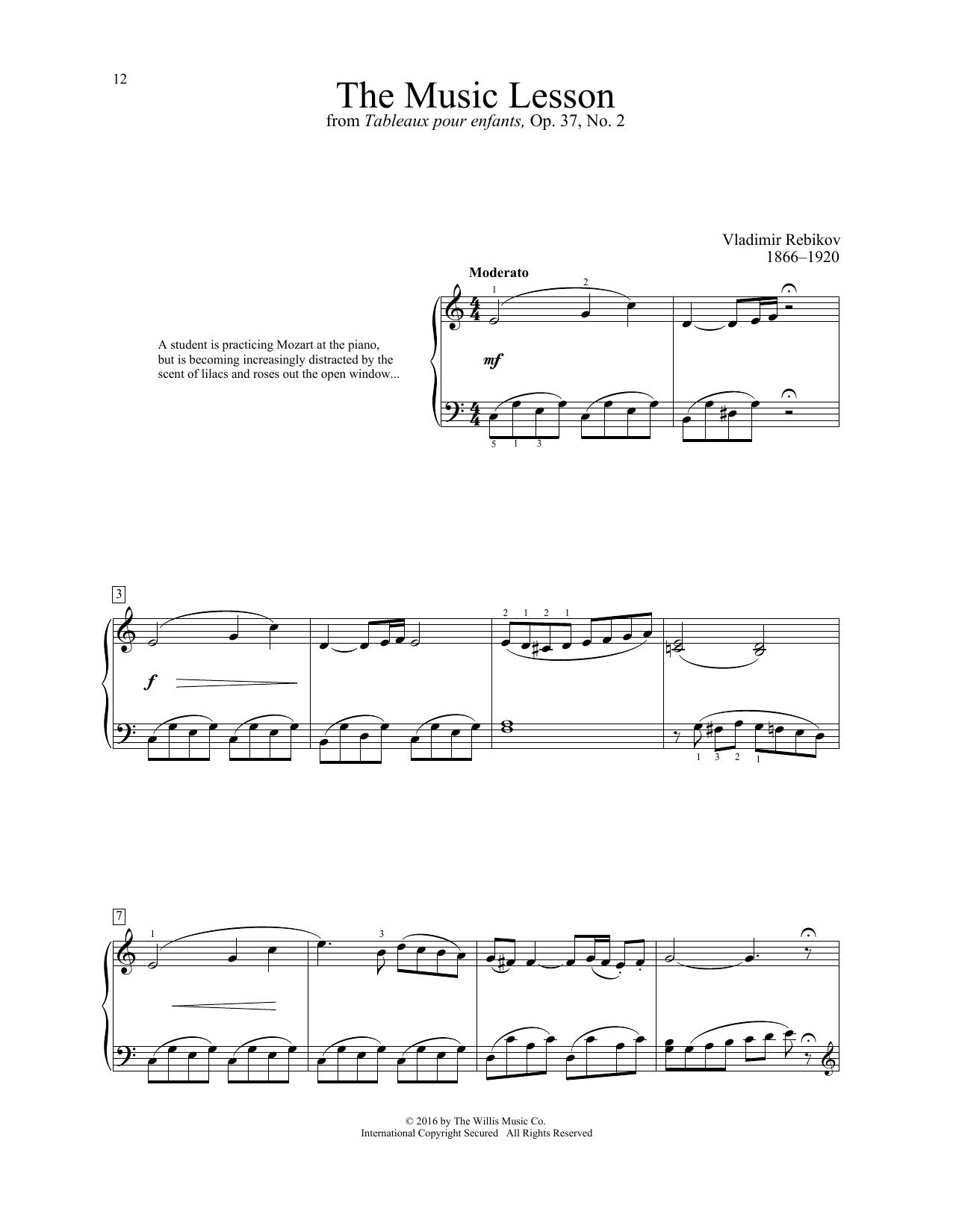 Vladimir Rebikov The Music Lesson sheet music notes and chords. Download Printable PDF.