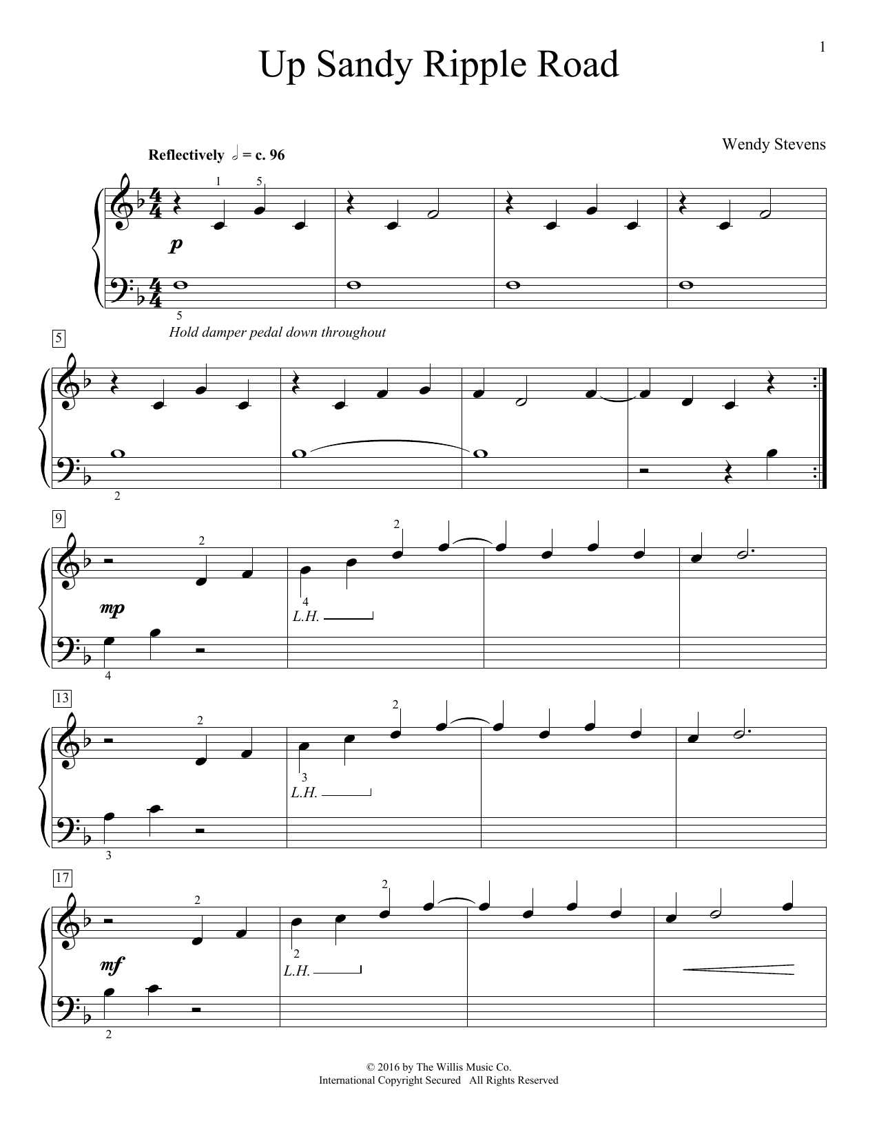 Wendy Stevens Up Sandy Ripple Road sheet music notes and chords. Download Printable PDF.