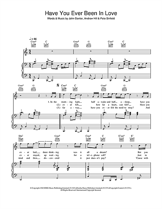 Westlife Have You Ever Been In Love sheet music notes and chords. Download Printable PDF.
