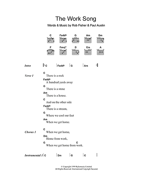 Willard Grant Conspiracy The Work Song sheet music notes and chords. Download Printable PDF.