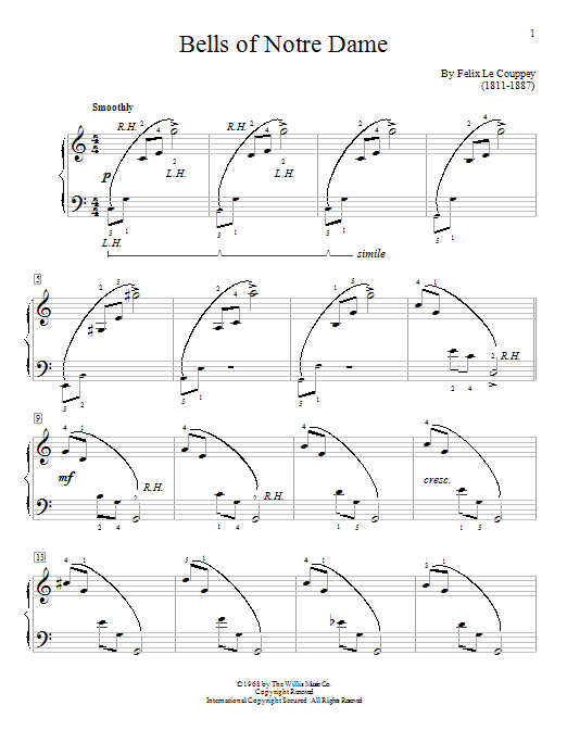 William Gillock Bells Of Notre Dame sheet music notes and chords. Download Printable PDF.