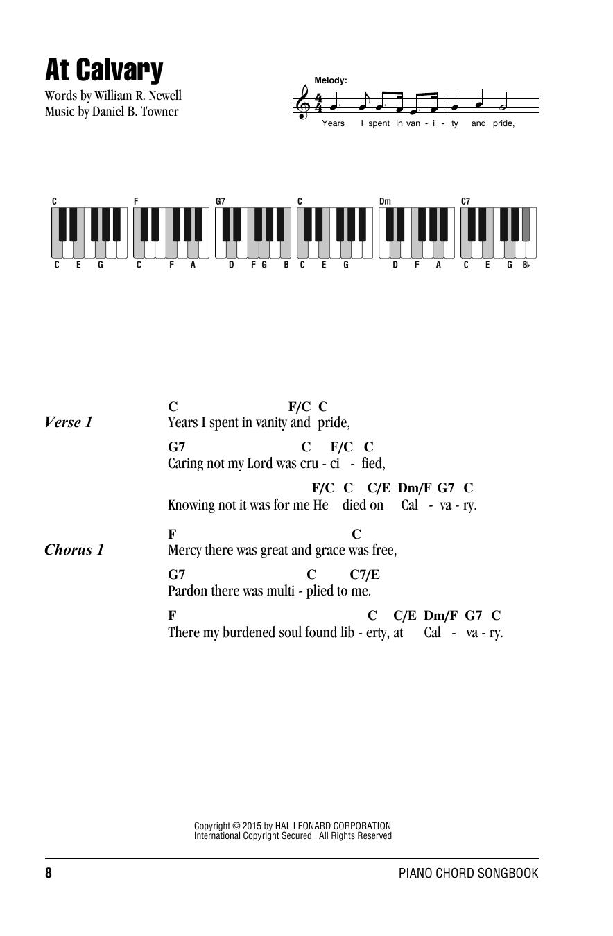 Daniel B. Towner At Calvary sheet music notes and chords. Download Printable PDF.