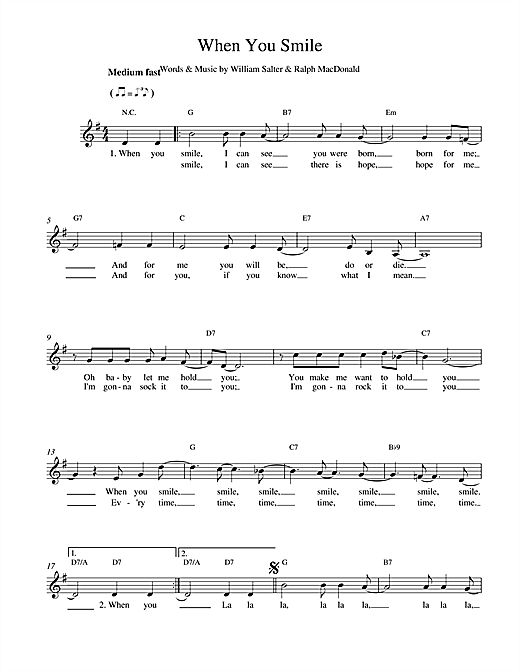 William Salter When You Smile sheet music notes and chords