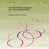 Download William Schinstine '10 Christmas Carols for Two Marimbas' Printable PDF 21-page score for Christmas / arranged Percussion Ensemble SKU: 376455.