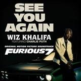 Download Wiz Khalifa 'See You Again (feat. Charlie Puth)' Printable PDF 8-page score for Hip-Hop / arranged Piano, Vocal & Guitar (Right-Hand Melody) SKU: 121041.