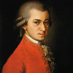 Wolfgang Amadeus Mozart 'Slow Movement Theme from Piano Concerto in B Flat K450' 1-page score for Classical / arranged Piano Solo SKU: 18707.