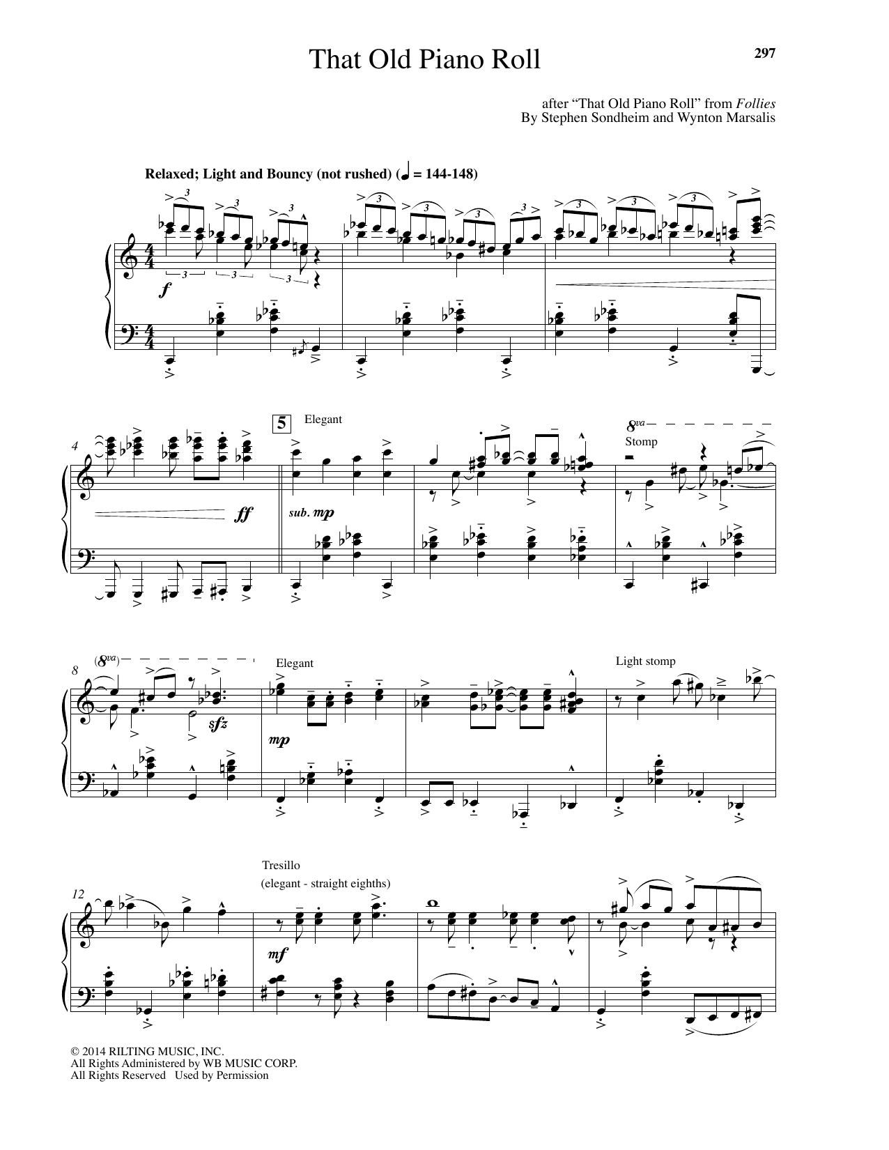 Wynton Marsalis That Old Piano Roll sheet music notes and chords. Download Printable PDF.