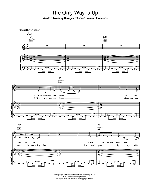 Yazz The Only Way Is Up sheet music notes and chords. Download Printable PDF.