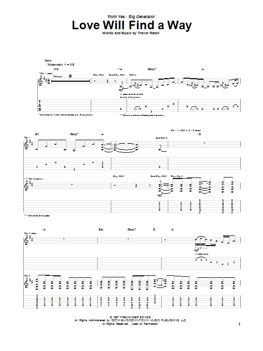 Yes Love Will Find A Way sheet music notes and chords. Download Printable PDF.