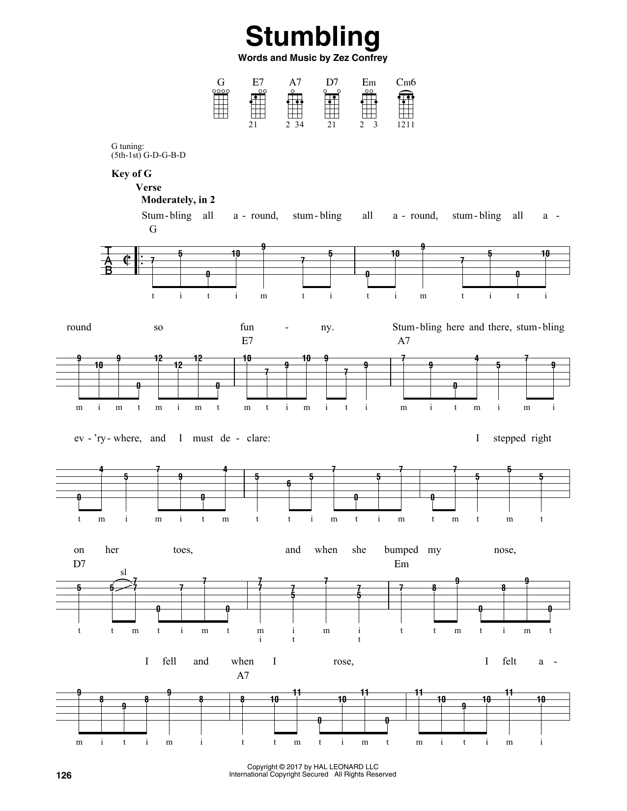Zez Confrey Stumbling sheet music notes and chords. Download Printable PDF.