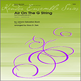 Download or print Ziek Air On The G String (from Orchestral Suite No. 3) - Full Score Sheet Music Printable PDF 5-page score for Classical / arranged Brass Ensemble SKU: 313798.